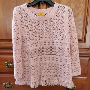 Ruby Rd. Blush Pink Sweater